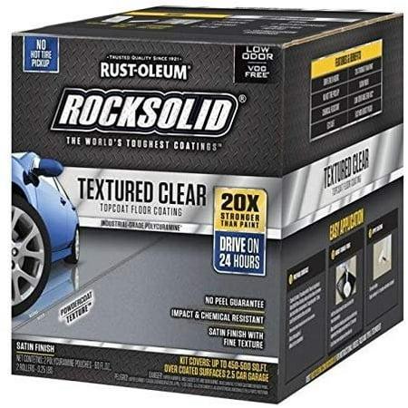 RUST-OLEUM 317382 120 oz Clear Rock-Solid Floors Polycuramine Textured Top Coat, Over Floor Raceway