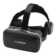 For VR SHINECON Virtual Reality 3D VR Glasses w/ Earphone for 3.5 -6.0  Android iOS Phones, VR Goggles, 3D Virtual Reality Glasses