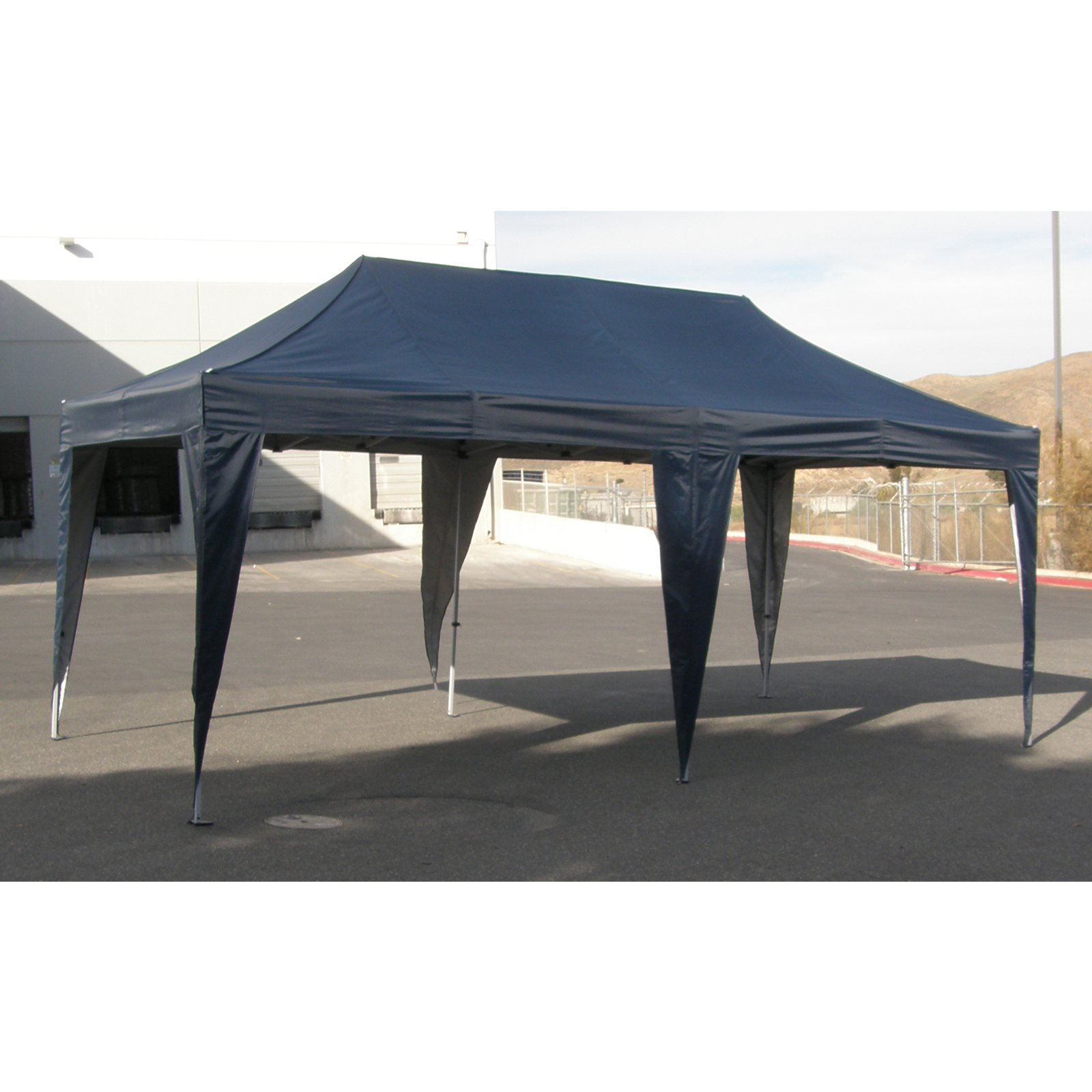 impact canopy alds 10x20 ft pop up canopy tent aluminum with roller bag - 10x20 Pop Up Canopy