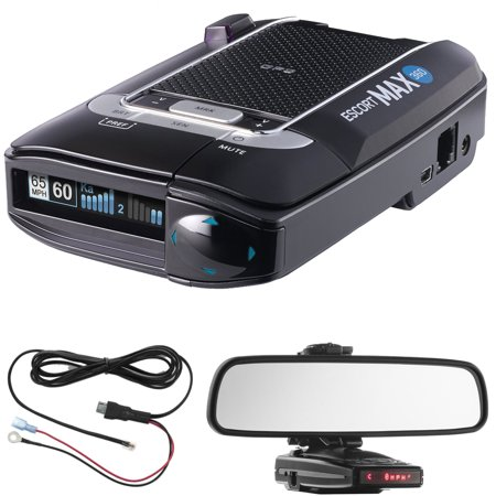 Escort Max 360 Radar Detector Power Bundle Includes  Car Mirror Mount Bracket For Radar Detectors   Radar Detector Direct Wire Power Cord