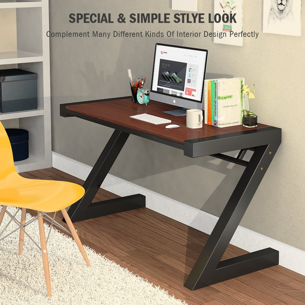 Computer Desk Tribesigns Z Shaped Office Desk