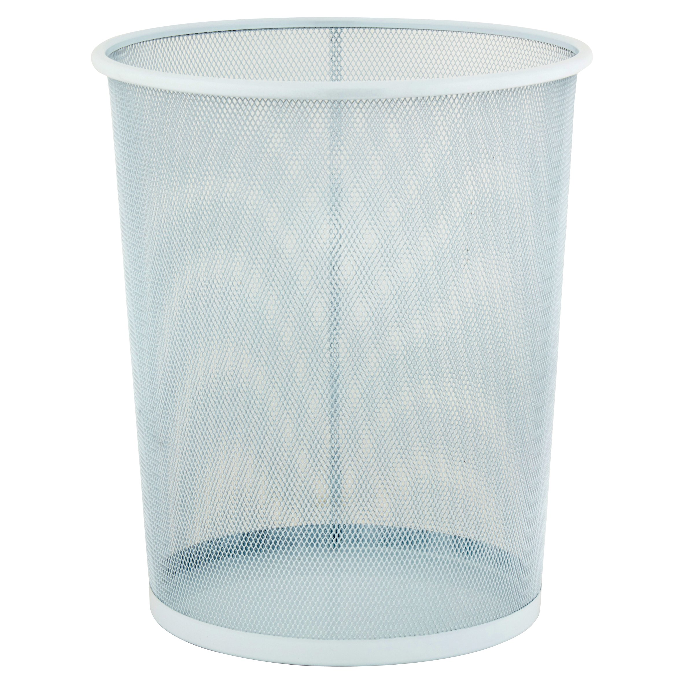 Honey Can Do 4.75-Gallon Round Mesh Metal Trash Basket, Multicolor ...