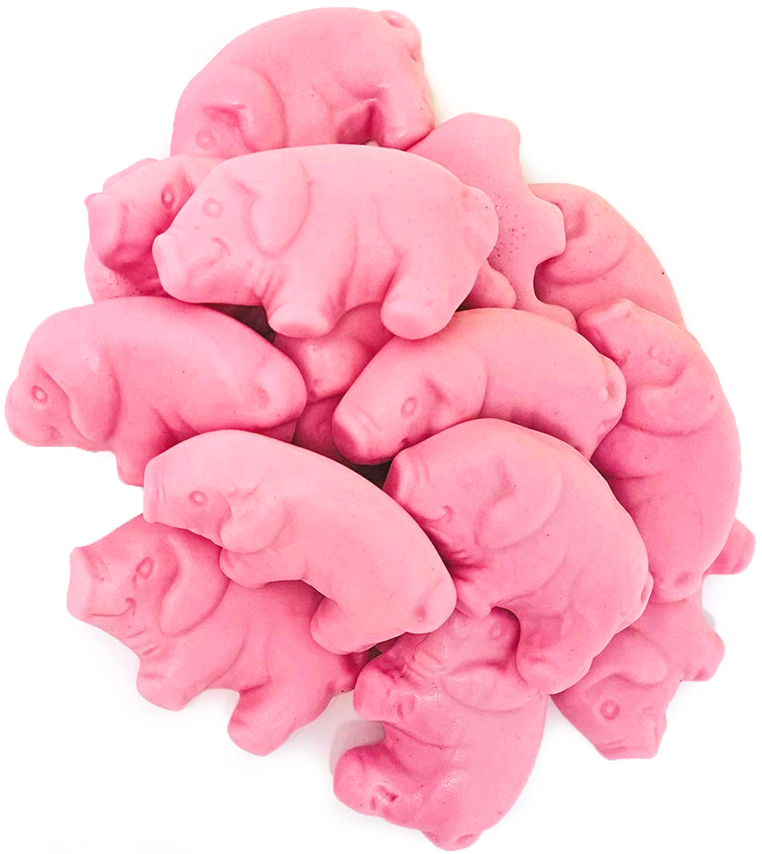 Gustaf's Pink Gummy Pigs raspberry flavored candy bulk 3 pounds