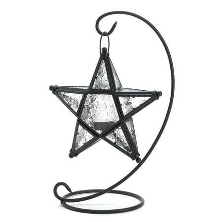 Star Lantern Decorations, Modern Glass Lantern Candle Holder For Home Decor](Lantern Holder)