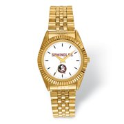FB Jewels LogoArt Florida State University Pro Gold-tone Gents Watch