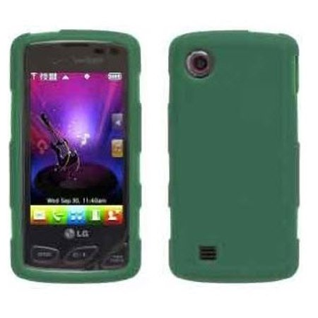Wireless Solutions Silicone Gel Case for LG Chocolate Touch VX8575 - Turf Green Lg Chocolate 3 Silicone
