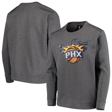 Phoenix Suns Youth Performance Fleece Crew Sweatshirt - Heathered Gray - Fleece Phoenix Coyotes Sweatshirt