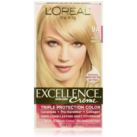 L'Oreal Paris Excellence Creme Haircolor, Light Ash Blonde [9A] (Cooler) 1 ea (Pack of 2)](Fake Chest Hair)