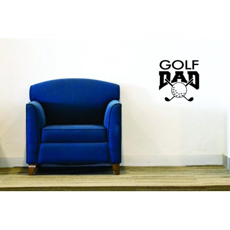 Decal Wall Sticker   Golf Dad Sports Father Son Daughter Boy Girl Teen Home Decor Picture Art 12X12 Inches