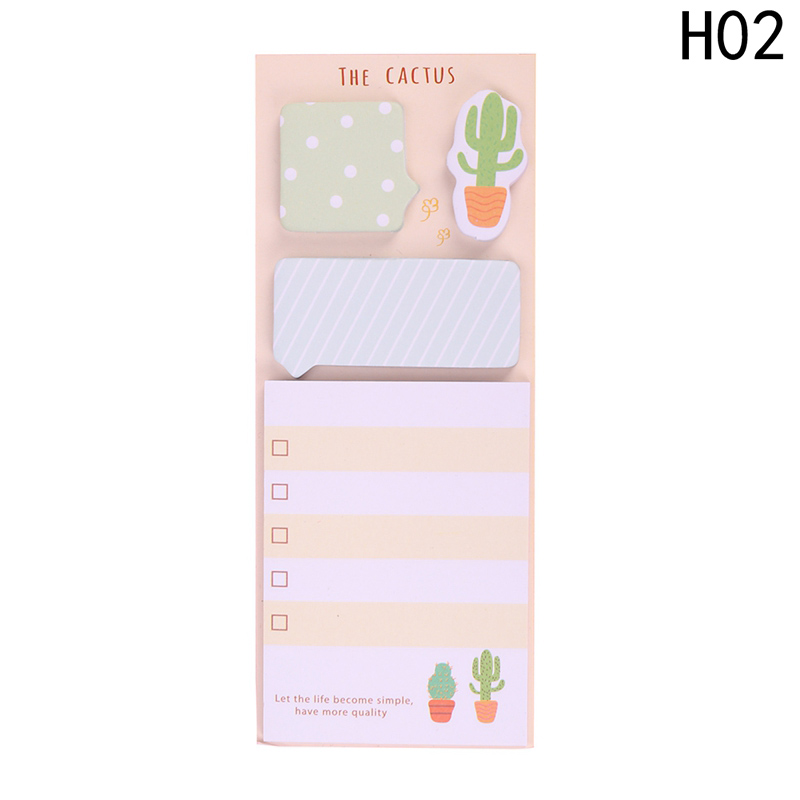 Cactus Kawaii Memo Pad Sticky Notes Cute Office Supplies Bookmark Paper StickeER