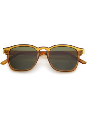 d1e0a953beca Product Image Classic Horn Rimmed Square Sunglasses Neutral Colored Flat  Lens 49mm (Brown   Green)