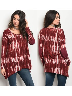 574007a8a7 Product Image JED FASHION Women s Long Sleeve Tie Dye Stretchy Knit Tunic  Top