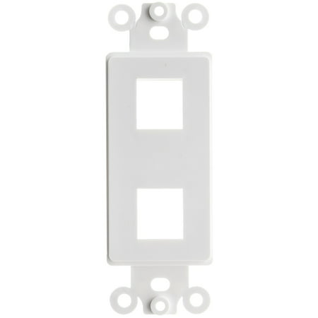 ACL Decora 2 Hole for Keystone Jack Wall Plate Insert, White, 1 Pack