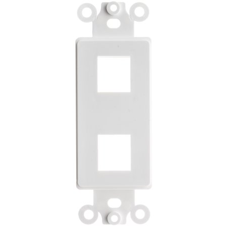 ACCL Decora 2 Hole for Keystone Jack Wall Plate Insert White 100pk