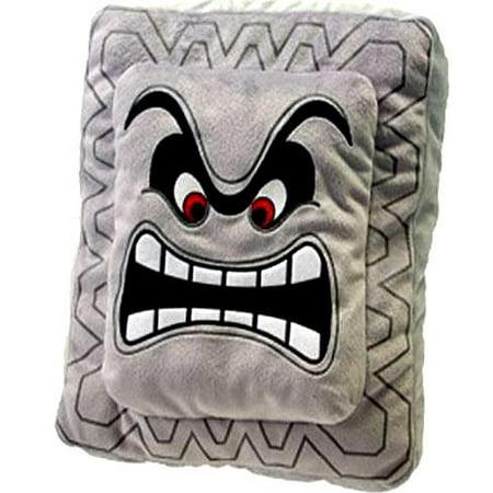 Super Mario Thwomp Plush Pillow Walmart Com