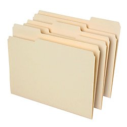 Office Depot File Folders, 1/3 Cut, Letter Size, 30% Recycled, Manila, Pack Of 100, 810838 (Office Depot Nearby)
