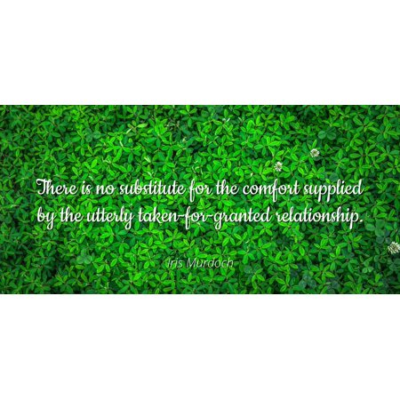 Iris Murdoch Famous Quotes Laminated Poster Print 24x20 There Is