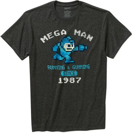 (Capcom Men's mega man graphic short sleeve t-shirt)