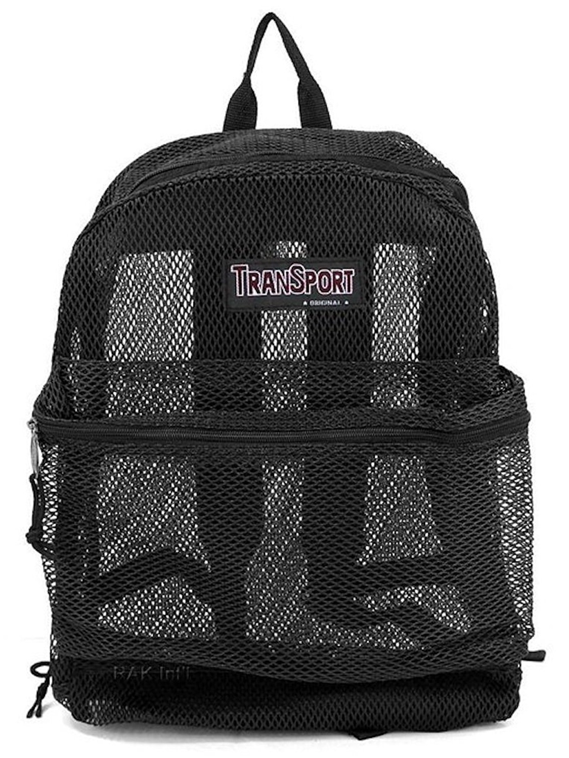 Travel Sport Transparent See Through Mesh Backpack  School Bag by