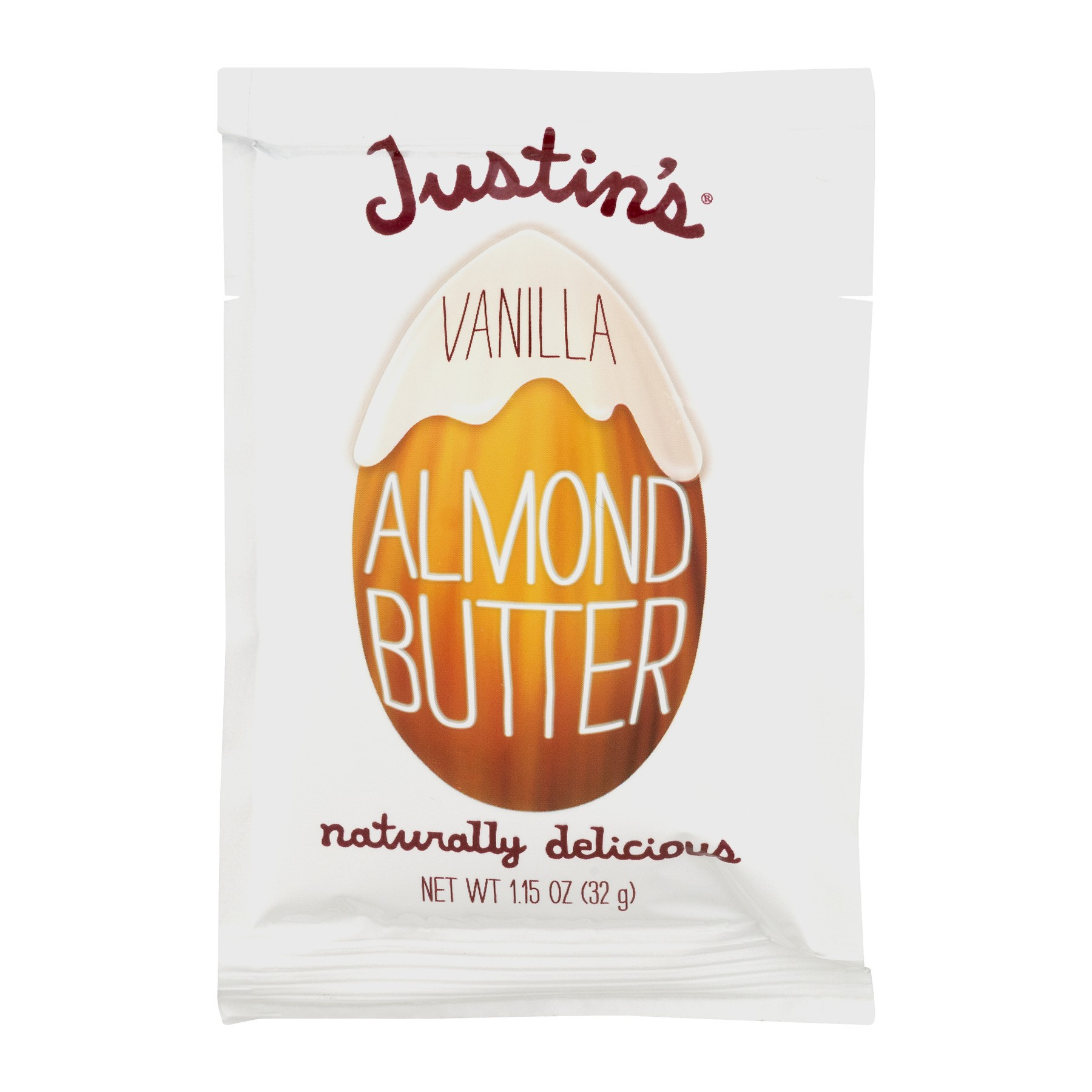 Justin's All Natural Almond Butter, Vanilla, 1.15 Oz