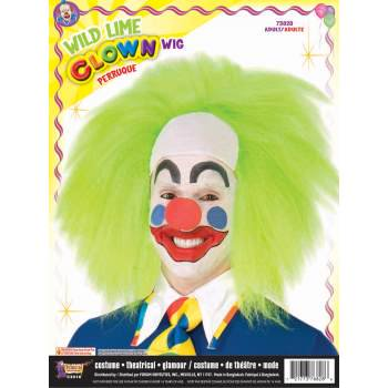 WIG - WILD LIME CLOWN - Green Clown Wig