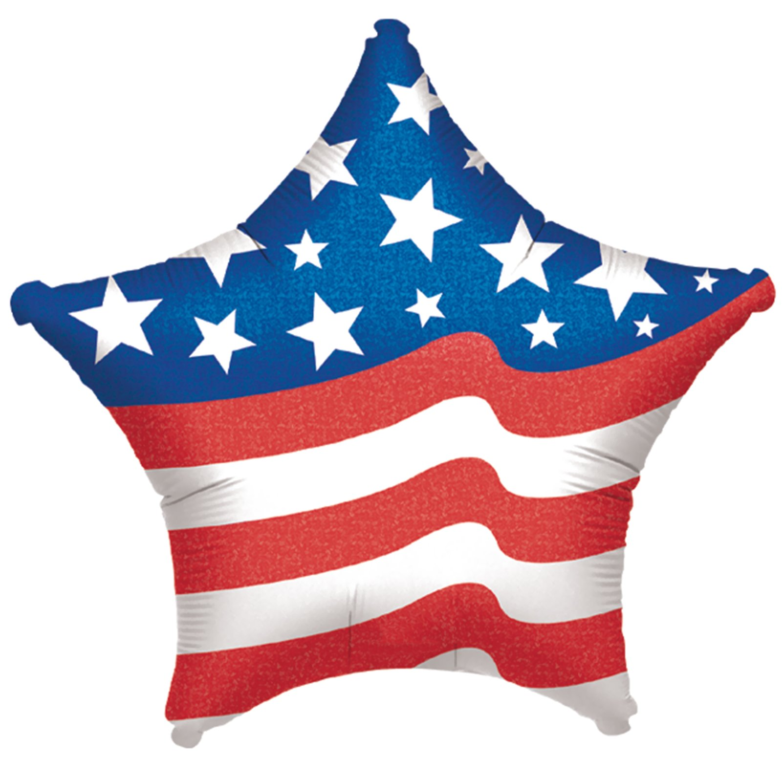 Anagram Patriotic Star Solid Jr Shape Mylar 19 in Foil Balloon, Red White Blue