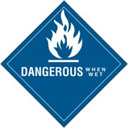 Box Partners Labels,Dangerous When Wet,4x4,500/RL - BXP DL5760