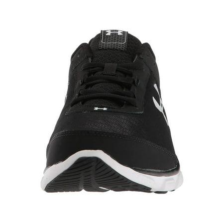 Under Armour Men's Micro G Assert 7 Sneaker, Black (001)/White, Size (Best Shoes Under 100 Dollars)