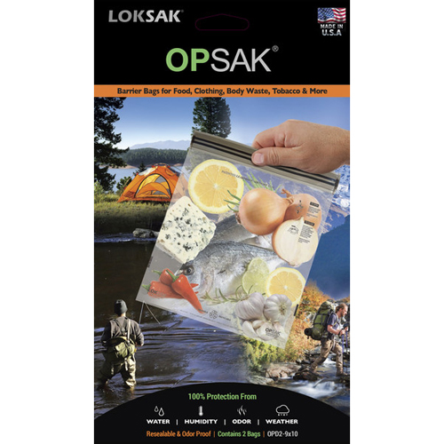 "Loksak Opsak Odor Proof Re-Sealable Storage Bags (2 Pack) - 9"" x 10"""