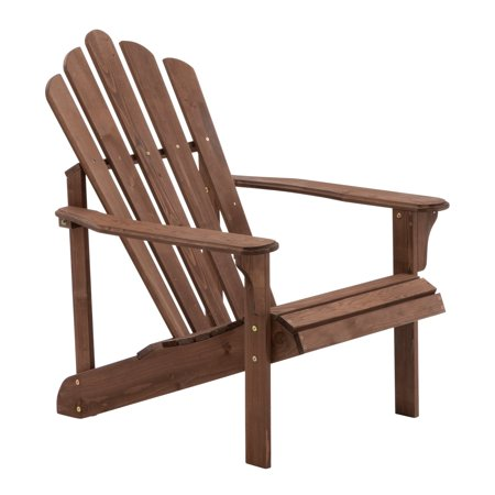 Coral Coast Hubbard Wooden Adirondack Chair - Dark Brown - Brown Adirondack Chair