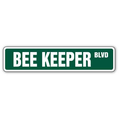 Bee Keeper Street [3 Pack] of Vinyl Decal Stickers | Indoor/Outdoor | Funny decoration for Laptop, Car, Garage , Bedroom, Offices | SignMission (Bee Decorations For Classroom)