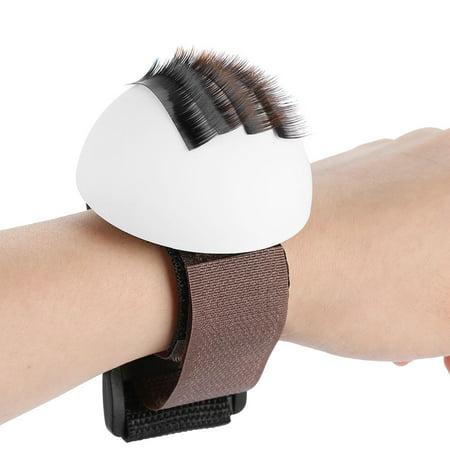 HERCHR Eyelash Extension Holder, Eyelash Stand Palette False Eye Lashes Stand with Wrist Vola Strap Makeup
