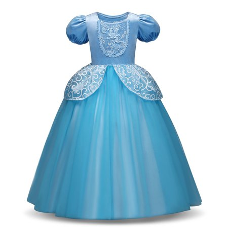 Girls Princess Cinderella Costume Dress Halloween Party Fancy Dress - Ideas For Couples Fancy Dress