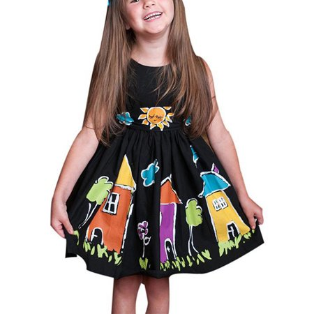 Kid's Girl Strappy Ball Gown Lace Up Prom Princess Bridesmaid Party Swing