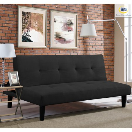 Outstanding Serta Casual Convertible Easton Sofa Microfiber Black Ncnpc Chair Design For Home Ncnpcorg