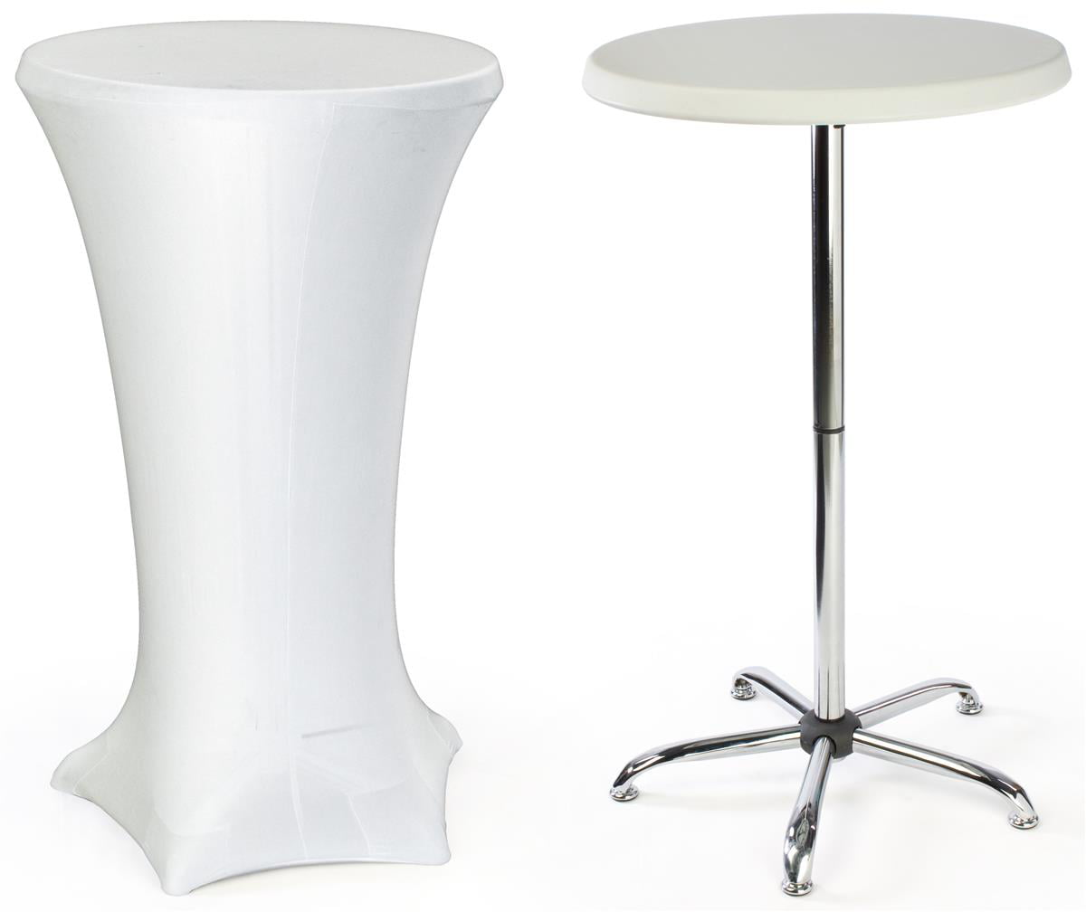 cocktail tables for sale Displays2go Cocktail Tables Feature a Spandex Cover and a Portable  cocktail tables for sale