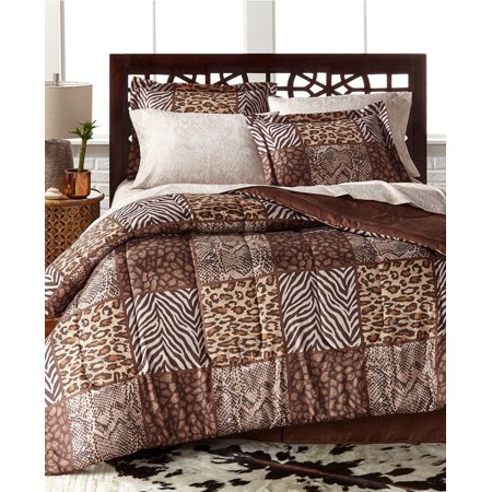 Leopard, Zebra, Safari, Wild Cats, Animal Print, Twin Comforter Set (6 Piece Bed In A Bag) ()