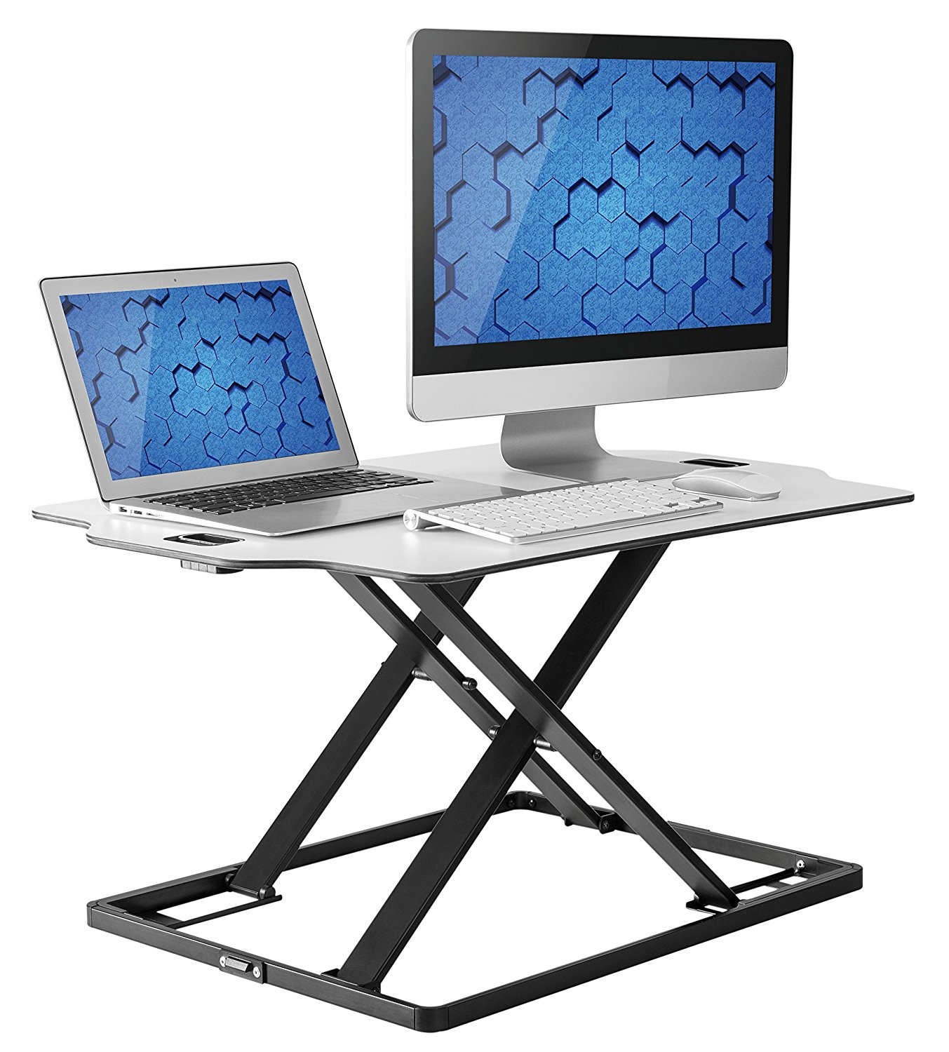 Husky Mounts Standing Desk Fully Assembled Sit Stand Desk Converter Ergonomic Adjustable Height Desk, Low Profile Sturdy Office Desk Stand, Smooth Transition From Sitting To Standing 1 To 16 Inches by Husky Mount