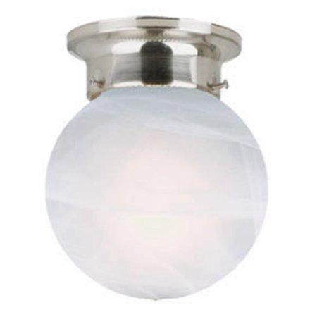 Millbridge 1-Light Globe Ceiling Mount, Satin Nickel Finish