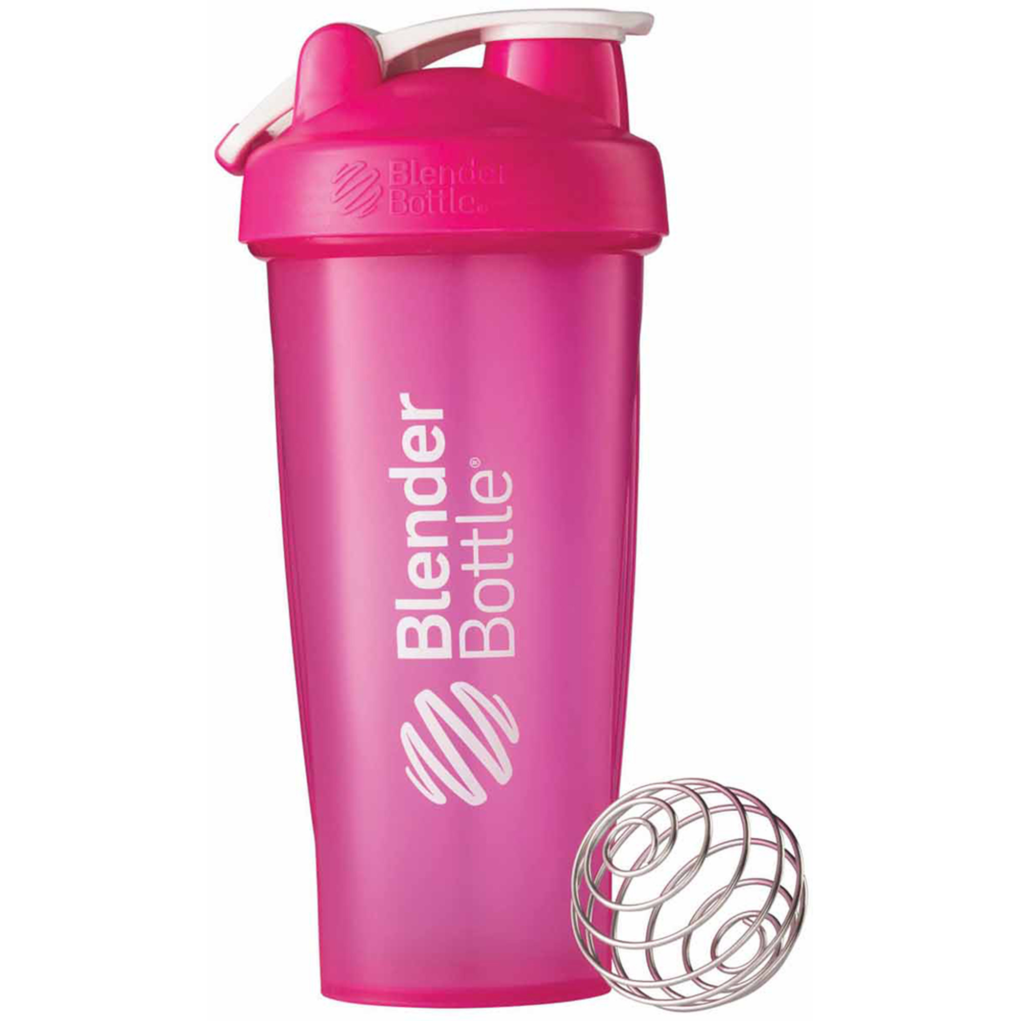 BlenderBottle 28-Ounce Classic Bottle with Loop, Full Color Pink