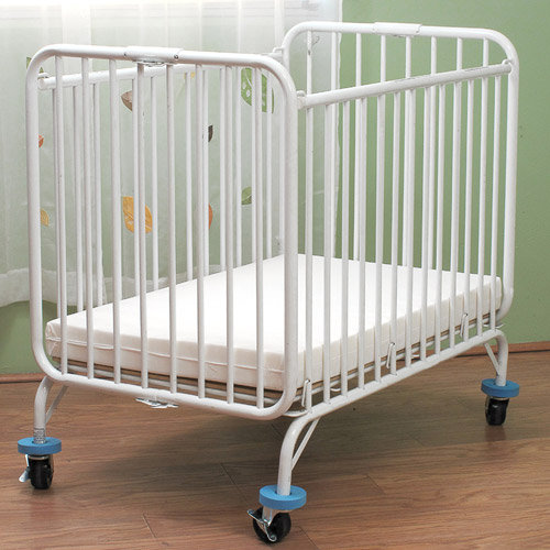 L.A. Baby Deluxe Metal Folding Holiday Crib
