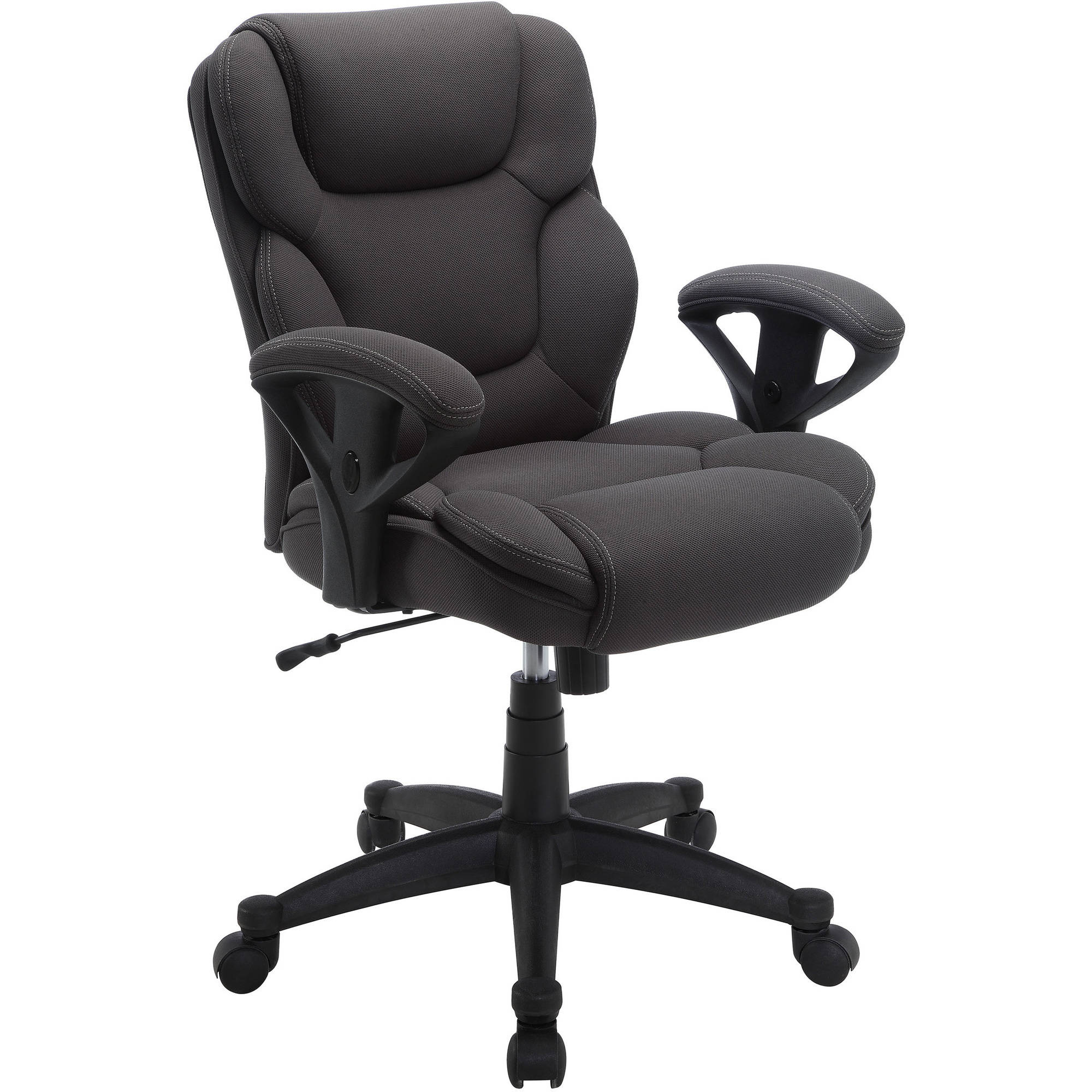 (Set Of 2) Serta Mesh Fabric Big And Tall Swivel Manager Office Chairs,