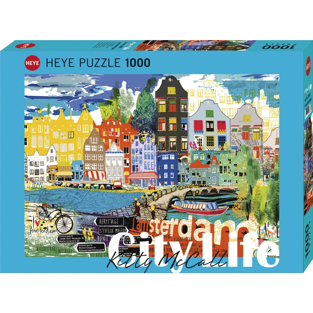 City Life I Love Amsterdam! 1000 Piece Puzzl,  More Europe by Autruche
