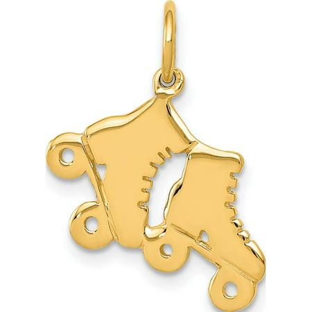 14k Roller - Leslies Fine Jewelry Designer 14k Yellow Gold Roller Skates (16x18mm) Pendant Gift