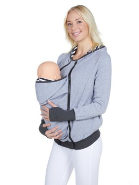 Women Maternity Kangaroo Hoodie Sweatshirt for Baby Carriers