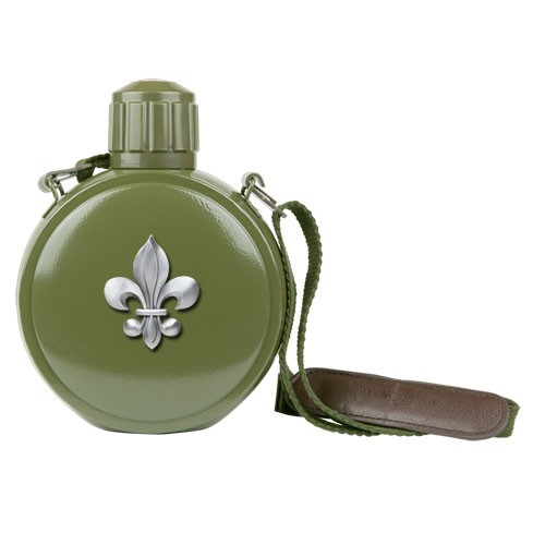 Fleur De Lis Canteen with Compass by