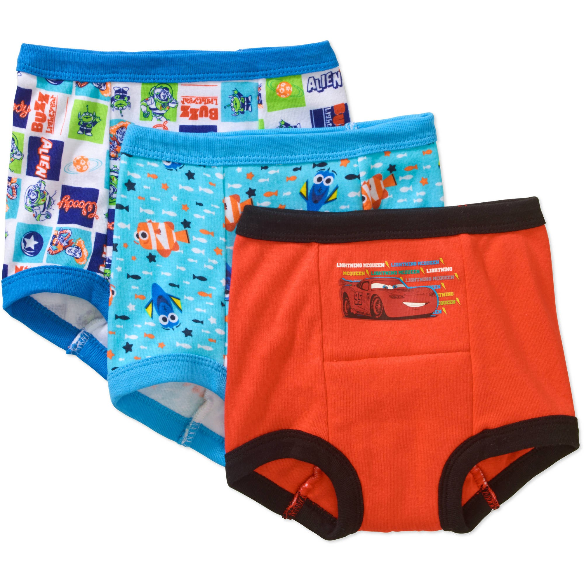 Pixar Toddler Boys' Training Pants, 2T, 3 Pack