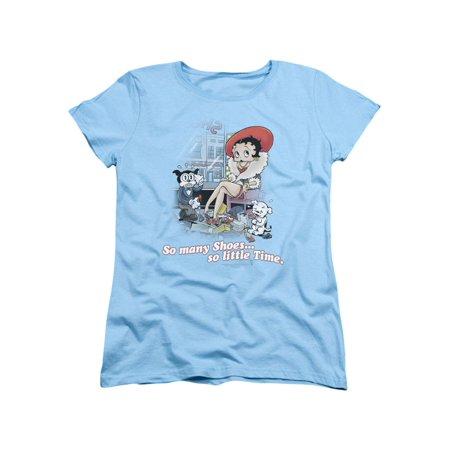 Betty Boop Cartoon So Many Shoes Women's T-Shirt -