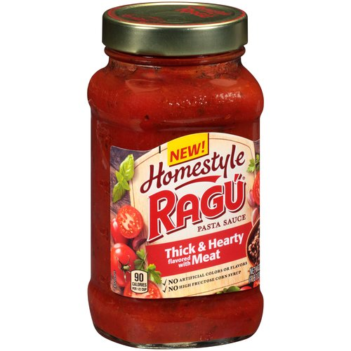 Ragú Homestyle Thick & Hearty with Meat Pasta Sauce 23 oz.
