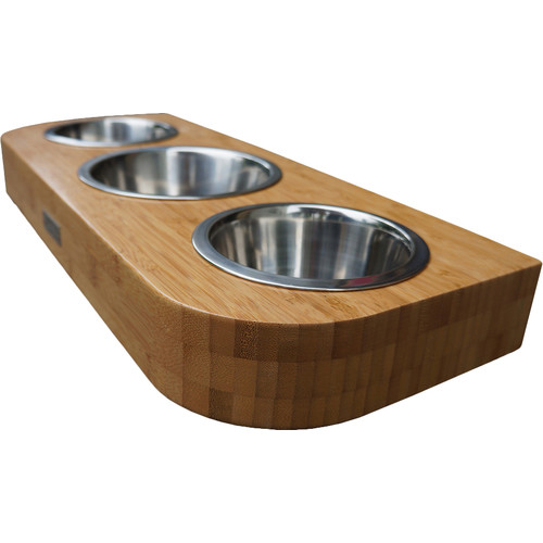 Pet Lounge Studios Bambu Pet Diner Triple Bowl